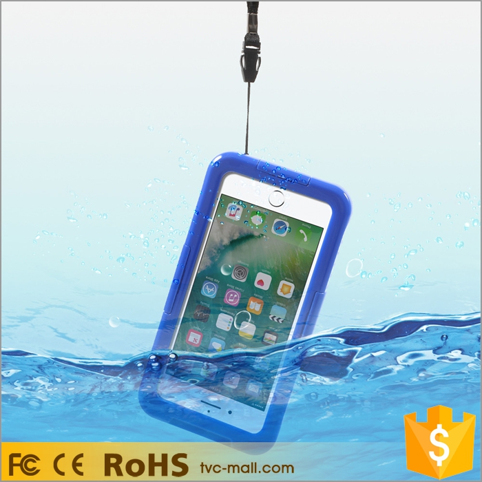 Wholesale for iphone 7 clear flip diving waterproof case cover