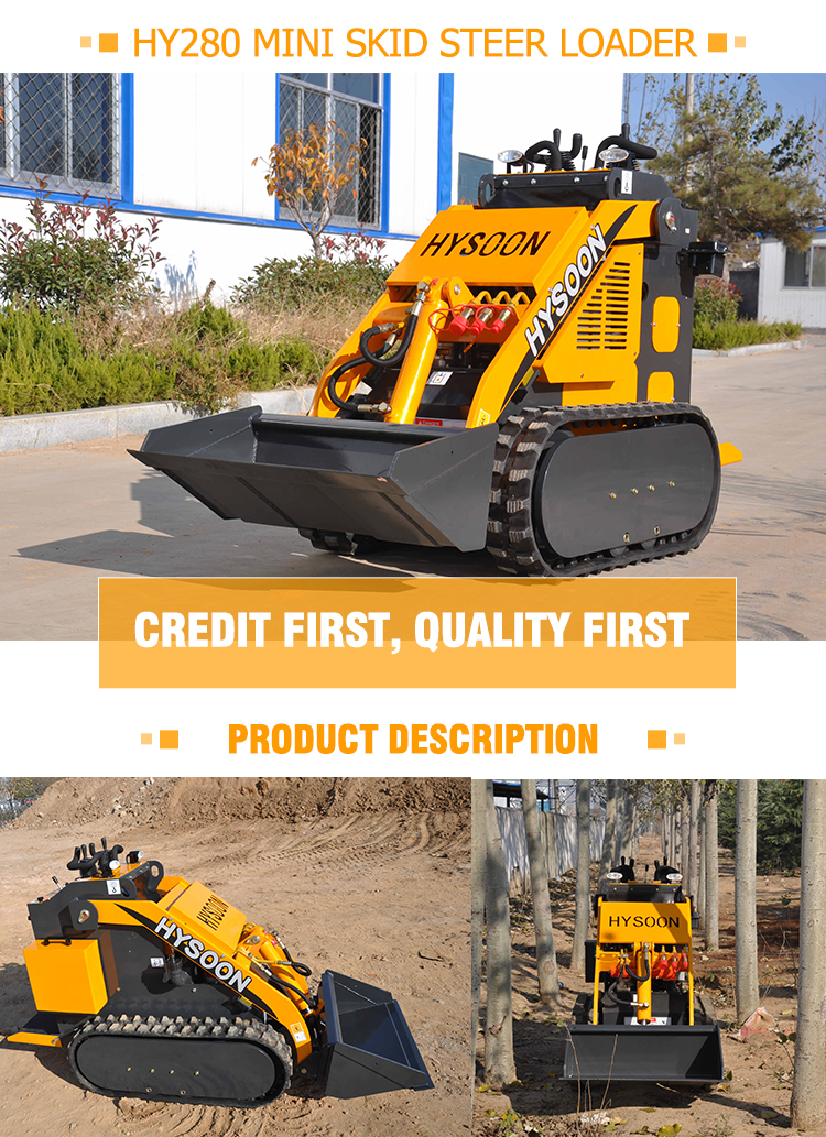 Compact track skid steer mini skid steer loader for sale