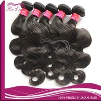 bolin Best selling 6a top quality body wave 100% virgin 24 inch human hair weave extension