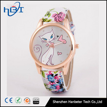 2017 hot sale new design geneva leather flower beautiful fashion cheap ladies japan movement wrist watches for women