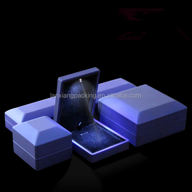 Led Lighting For Display Cases For Jewelry,Led Light Ring Box,Gift Box Jewelry Flocked