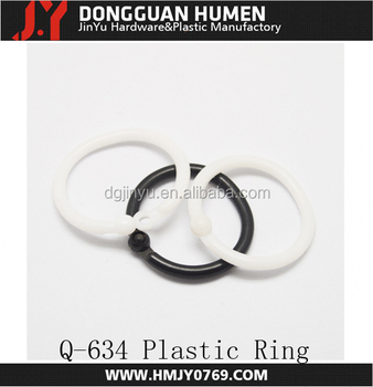 White Plastic Rings for Roman Shades 5/8""
