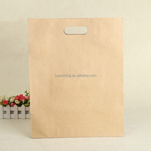 2017 Wholesale Reusable french large bread packaging brown kraft paper lunch bags for bread