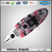 Cheap small not inflatable plastic single fishing boats made in China