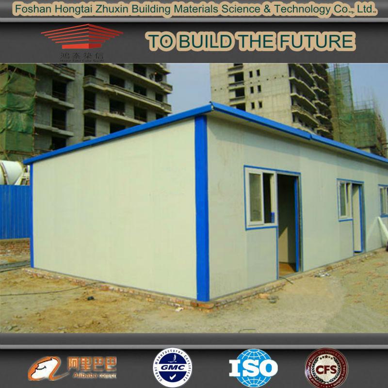 Bajo costo impermeable techo plano kiosco prefabricados de for Precio cobertizos prefabricados