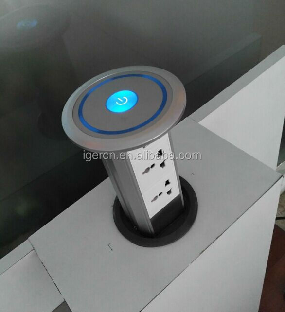 intelligent lifting pop up desktop socket/Domotical Motorized pop up socket HGZN-TS001(IP44)