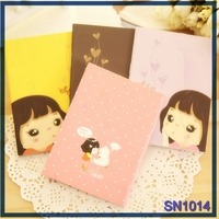 Hot New Arrival stationery business plan korean lovely girl composition notebook cheap price