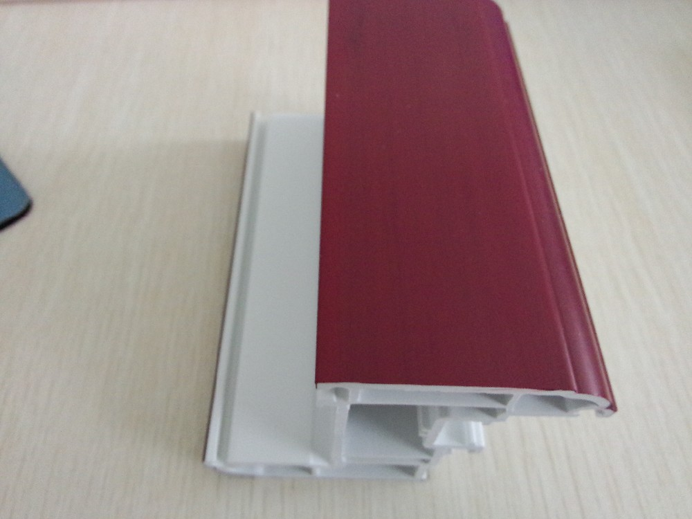 soft and hard co-extruded pvc profiles 65 series pvc profile