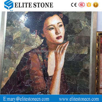 Woman Marble Art Paiting Wall Decorative Pictures For Bathrooms