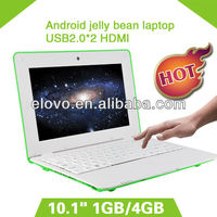 Shenzhen factory direct sell low price laptop 10.1 inch android with hdmi wifi