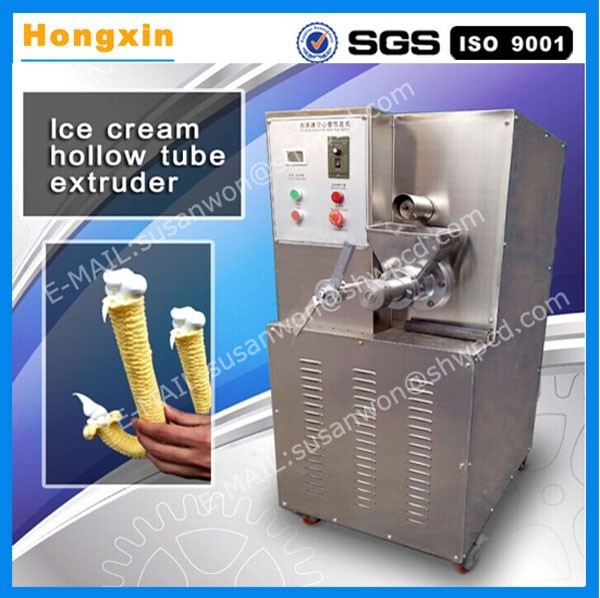 Commercial stainless steel ice cream hollow tube extruder
