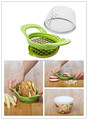 Kitchen Utensil Plastic Vegetable Slicer and Fruit Slicer Dice and Store Vegetable Chopper Fruit Chopper for Salad
