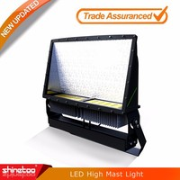 High power UL DLC high mast light IP65 500w outdoor led flood light