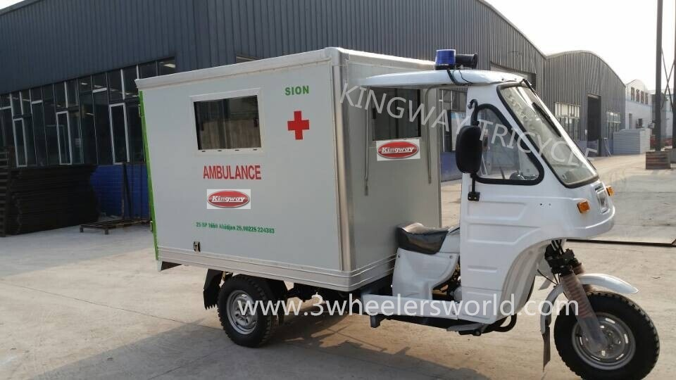 Kingway motorcycle ambulance / three wheel ambulance / tricycle ambulance for sale