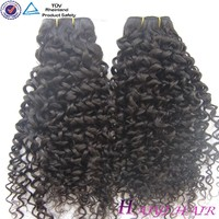 New Arrival Large Stock Wholesale Price Popular sale for hair weft curly wave dyeable and thick virgin peruvian hair