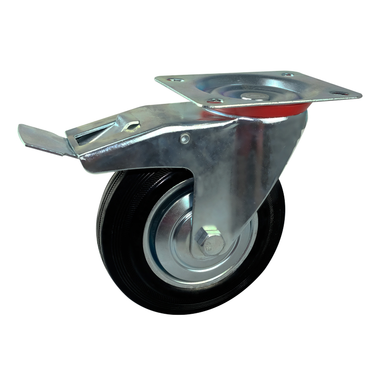 D&Z 3 inch industrial castors Swivel small rubber <strong>wheels</strong>