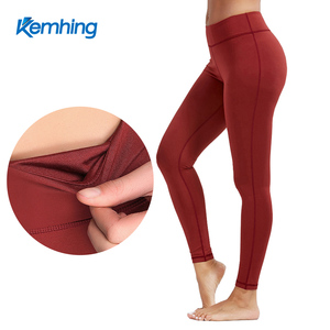 Autumn and Winter Hot Selling Elasticity Tight High waist Breathable Thin Nine sexy woman yoga pants leggings with pockets