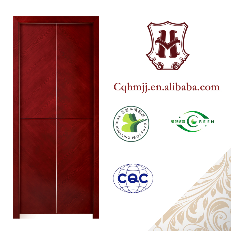 Red oak fashion veneer new design meeting room door