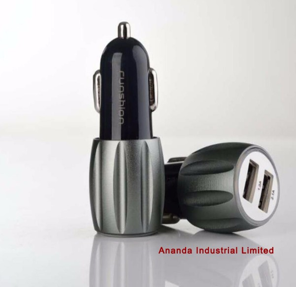 High quality speed dual usb car charger for apple iphone/samsung