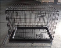 Five Sizes Easy to clean outdoor iron wire Folding Suitcase Pet Dog Cat Cage Kennel