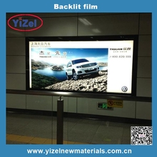 2017 hot sales Chinese factory best sales 1.52*30m PET Backlit film for ECO-Sovent printing