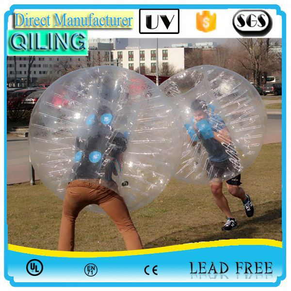 China Gold Supplier china 0.8mm PVC/TPU inflatable water bubble football for kids