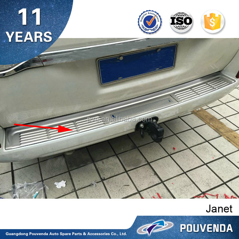 Rear Bumper Guard rear bumper foot plate with LOGO For Toyota Land Cruiser 2016 car 4x4 accessories From Pouvenda