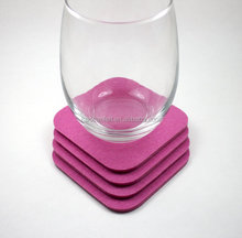 "felt coaster cup Eco-friendly coaster 4""*4"" 10cm*10cm various color protect/decorate your table"