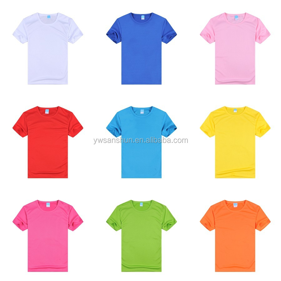 New Men's Basic Plain Tee T -shirt Crew Neck Shirt Solid Color Sample Free