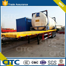Container Transport Widely Used Flatbed Trailer With Container Lock(20-53FT Optional)