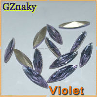 4x15mm VIOLET Navette crystal decorative clothing stones