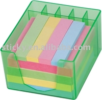 sticky notes in box