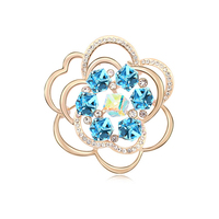 Rhodium plated Yellow Gold Factory brooch