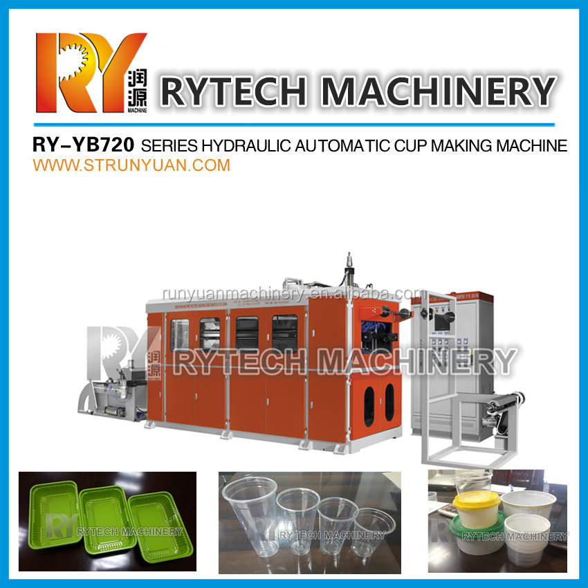 Plastic PP PS PET Cup and Tray Thermoforming Machine