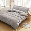 3 Pieces Duvet Cover King,Stone Washed Yarn Dyed Microfiber Duvet Cover Set,Ultra Soft and Easy Care,