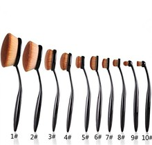 private label cosmetics 2016 Hot Sale ToothBrush Shape Foundation Oval Makeup Brush Set