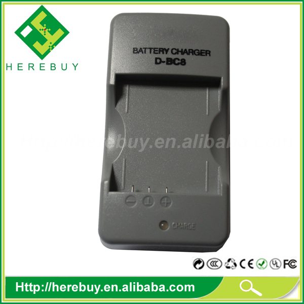 D-BC8 D-LI8 Digital Camera Battery Charger for Pentax Optio A10 A20 T10 S4 S4i S5i S5n S5z SV SX S7 W10 WPi S6
