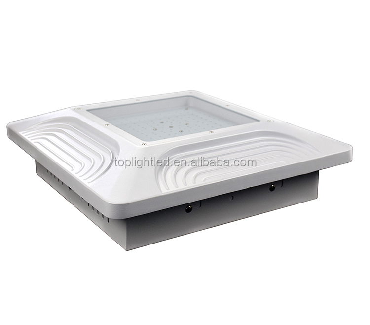 North America Gas station shoe box high bay 40w 60w 80w 100w 120w 150w IP65 LED canopy light