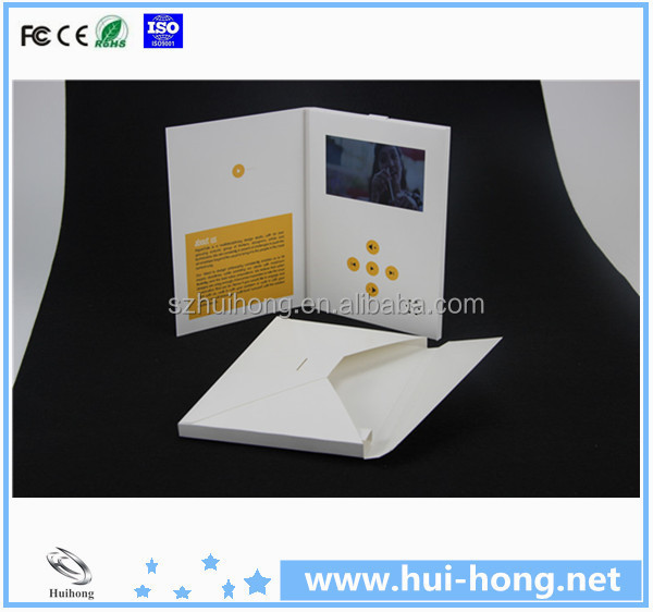 Electronical video card for business promotion