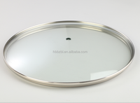 Manufacturer wholesale cookware parts transparent tempered glass cover for cooking pot