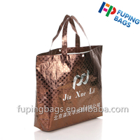 2016 Fashion custom laser film laminated shopping bag ,non woven tote bag with button