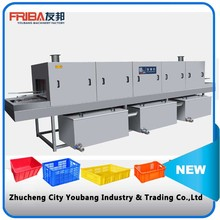 High efficiency multi-functional crate / pallet washing machine