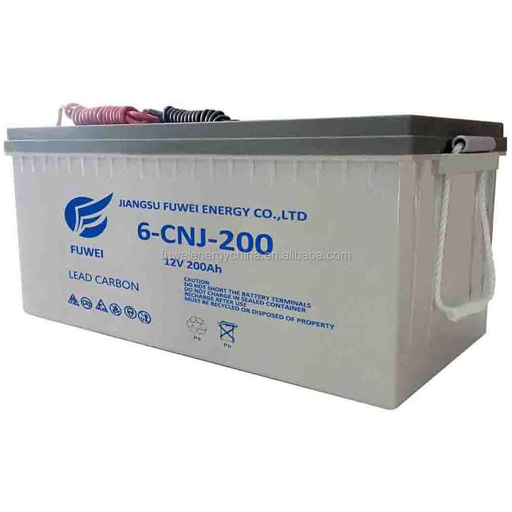 Puerto Rico Deep Cycle 12V 200 Ah Gel Fully Capacity Battery for Solar System