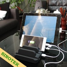 SINOTEK power docking station 52.5W 5 outputs multi cell phone charging station