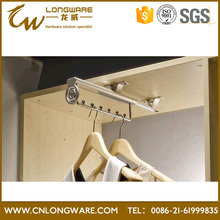 Ceiling telescopic sliding cabinet wardrobe storage hanger clothes rack
