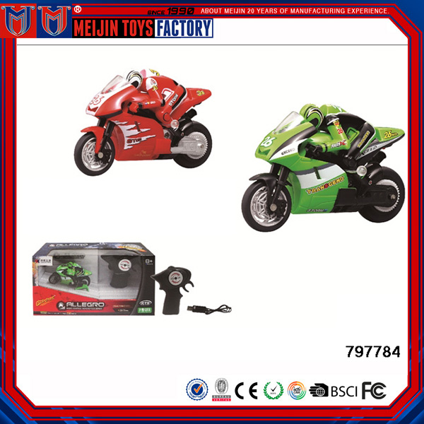 Hot Sale Plastic Toy Motorcycle 2.4G 4CH Remote Control Toys RC Car