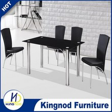 Glass dining furniture Cheap table and chairs 4 restaurant