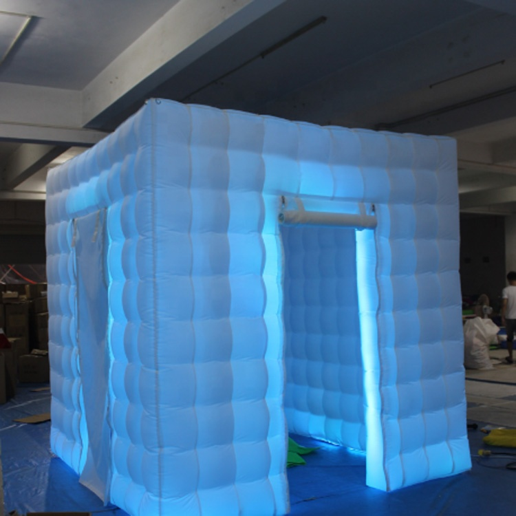 2 Doors 2.5m The Fun Blow Up Cheap LED Light Inflatable Photo Booth for Sale