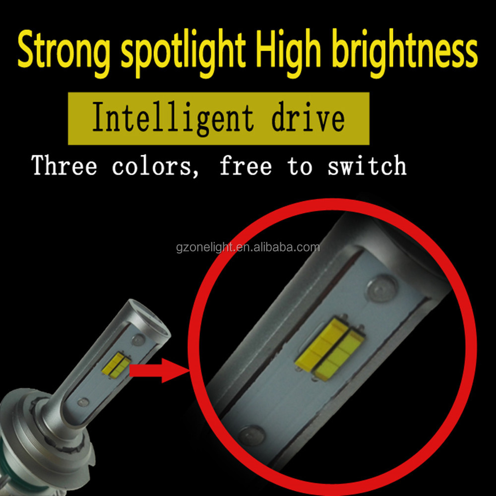 Automotive led lighting T5 plus dual color led headlight H4 wholesale