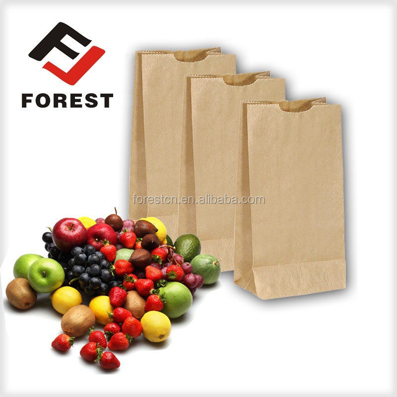 Popular in food paper bag, kraft paper bag for bread, square bottom paper bag printing.